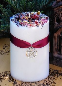 White Magick Ritual Blessing Pillar - pagan wiccan witchcraft magick ritual supplies