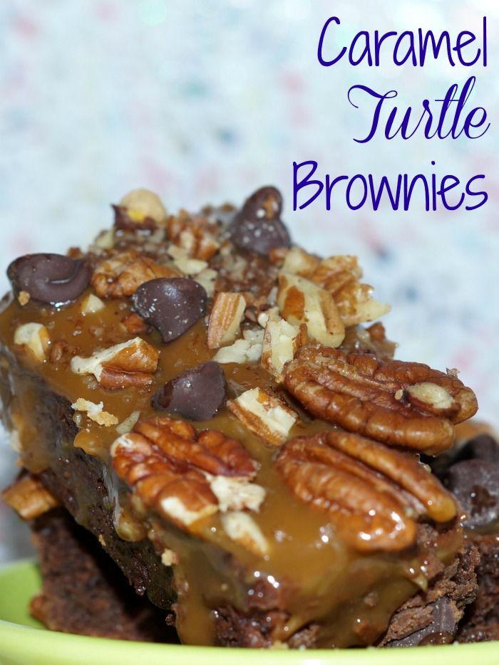 Caramel Turtle Brownies Recipe | Yummly