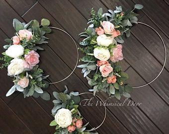 Photo of Bouquet ring – wedding bouquet – farmhouse wedding – boho wedding – bridal bouquet – boho bridal wreath hoop wreath