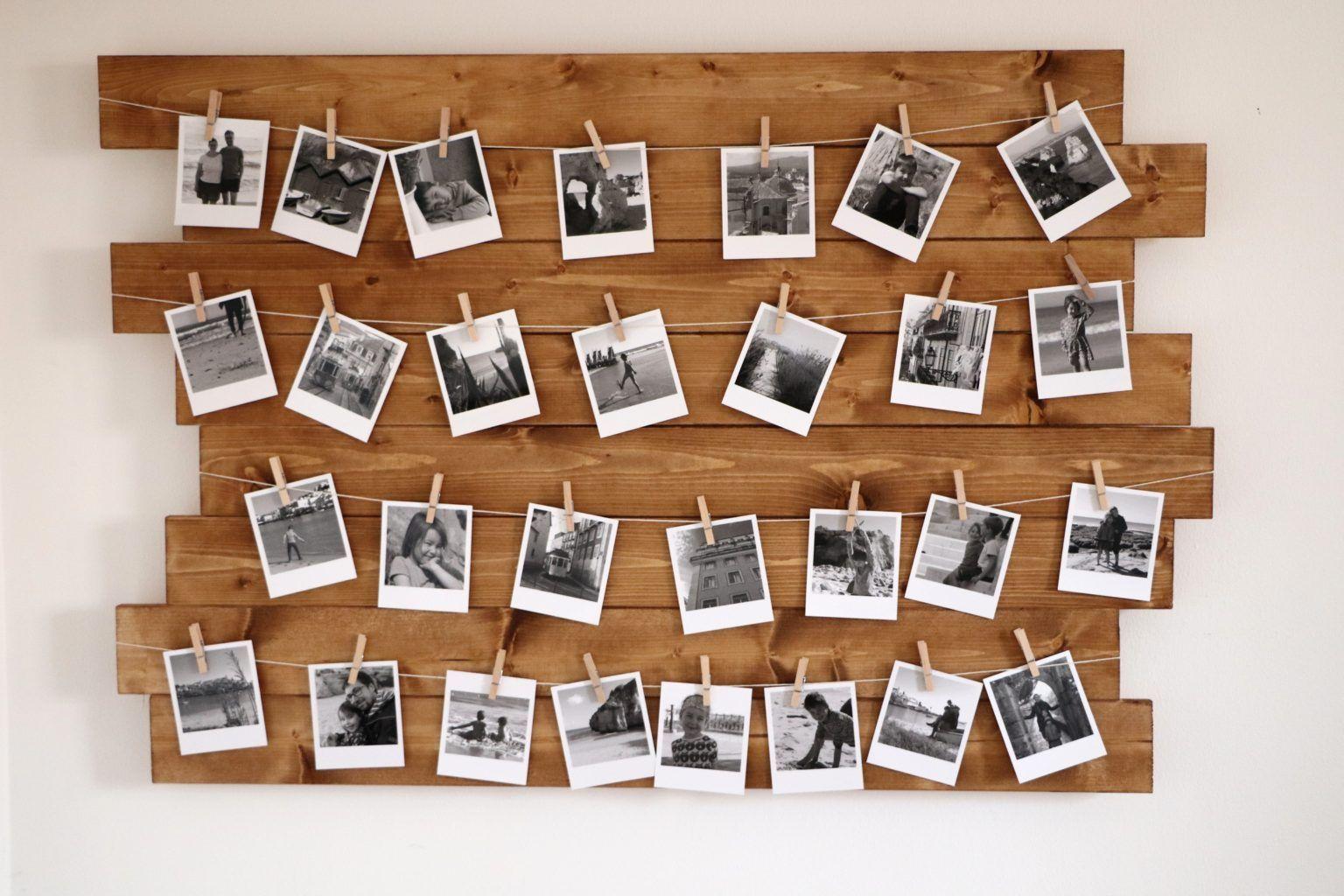 Faire Un Mur De Photos Décoration diy: construire un mur photo avec r | photo wall, diy garden