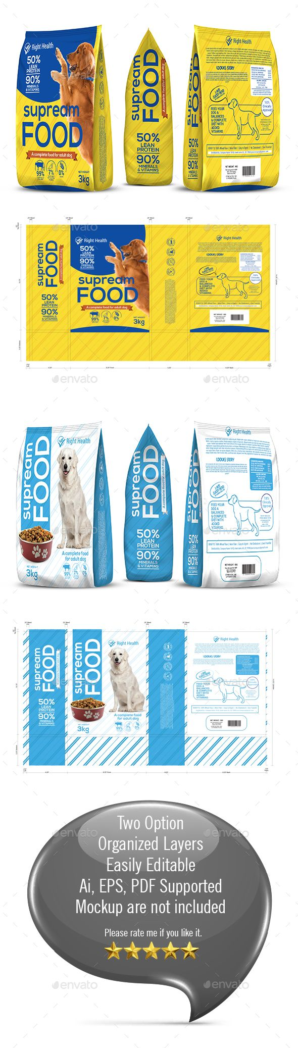 Dog Supplement Packaging Template-2 | Alimentos