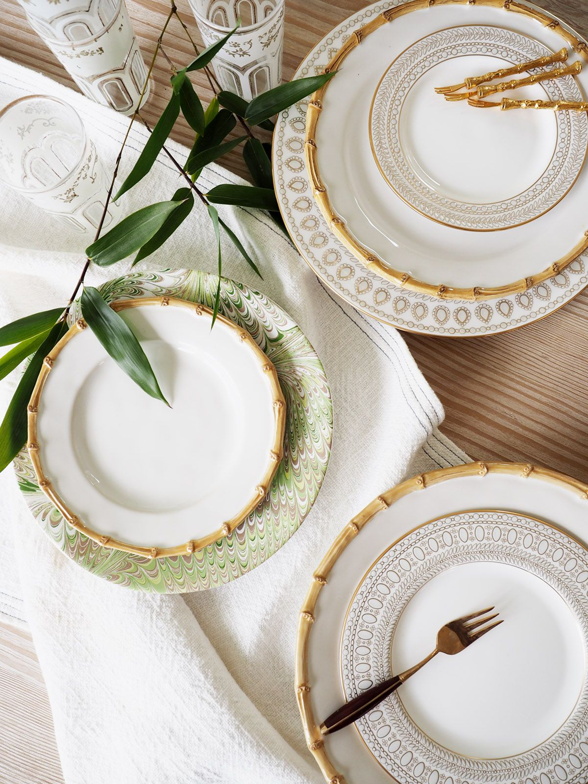 How To Mix N Match China For A Modern Registry Wedding China China Plates Bamboo Dishes