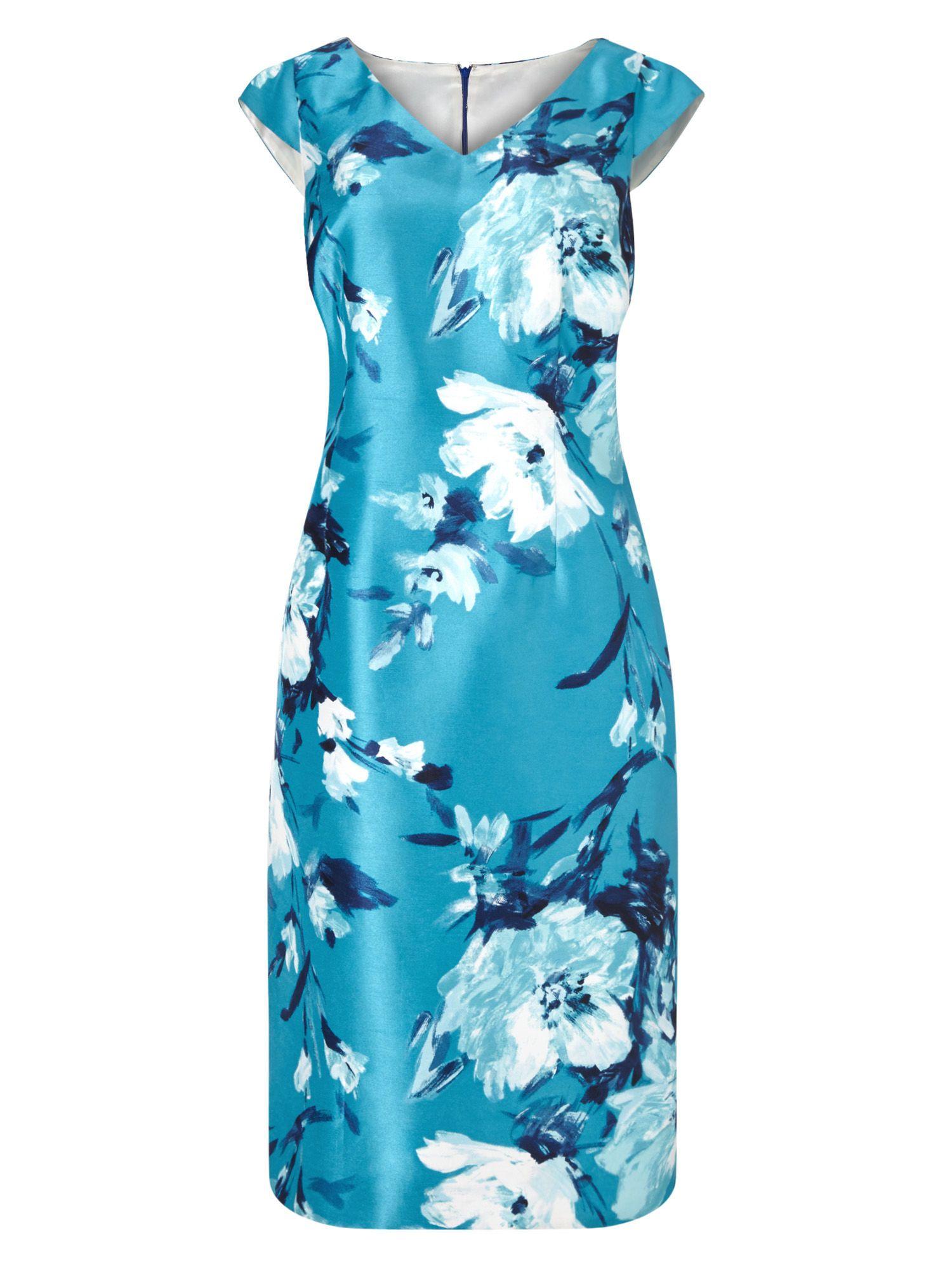 Jacques Vert Large Med Flower Print Dress | Spring Wedding Outfits ...