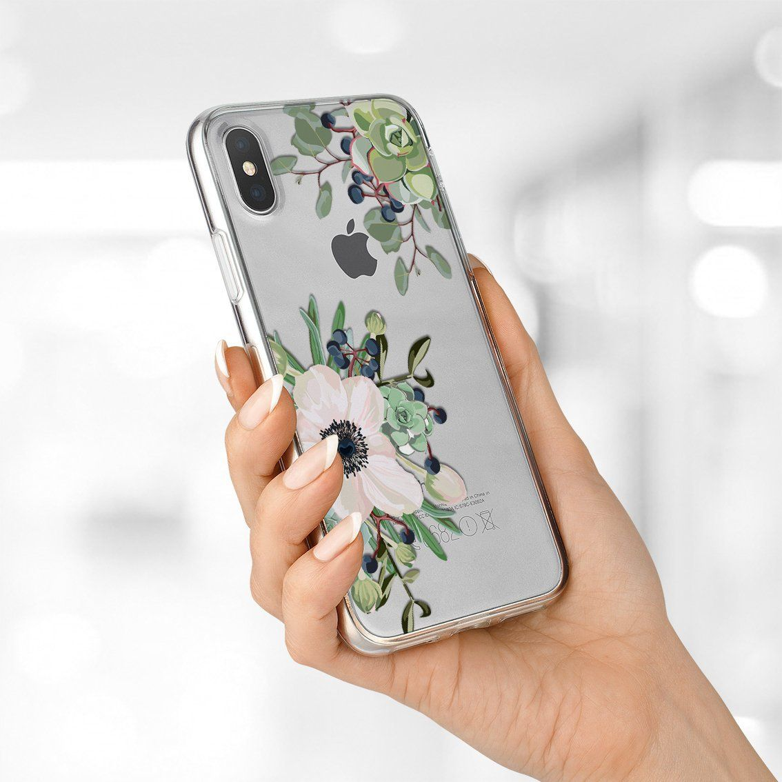 Iphone 6 White Flower Case Watercolor Case Iphone 7 Plus Case
