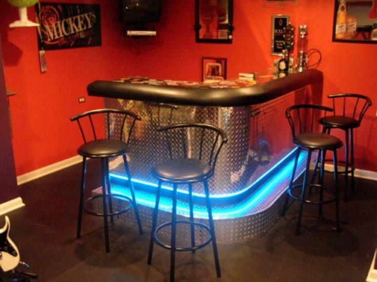 home bar lighting. Creative #homebar Lighting Idea Home Bar E