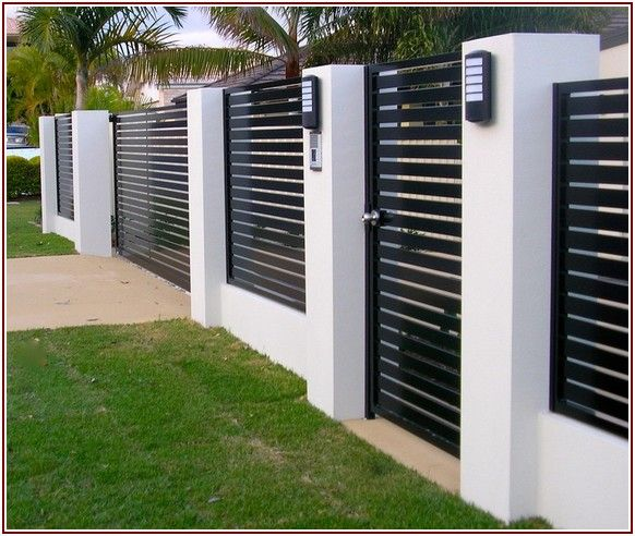 Great share Modern Fence Design Ideas | Ide pagar, Rumah dan ...