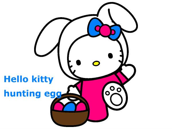 Free Hello Kitty Easter Coloring Page Online And Printable Pages For You To Color Or Print Out Use Crayons Markers