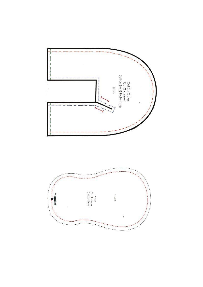 Patrón zapatitos II | Fieltro | Pinterest | Zapatos de fieltro ...