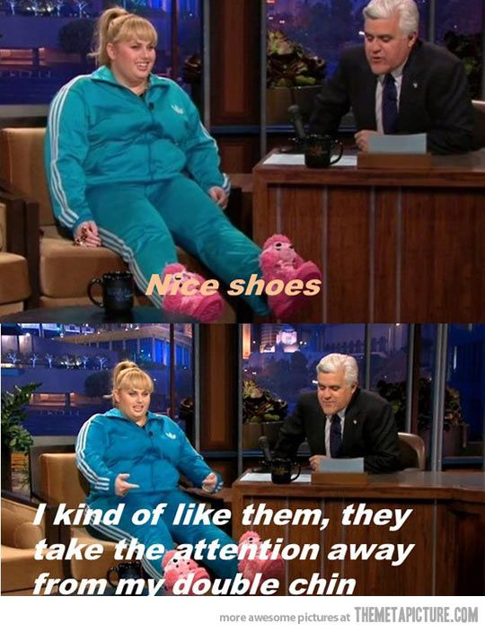 Gotta love Rebel Wilson… Tan this is a perfect reason for us to by a pair of Kick Ass shoes!!