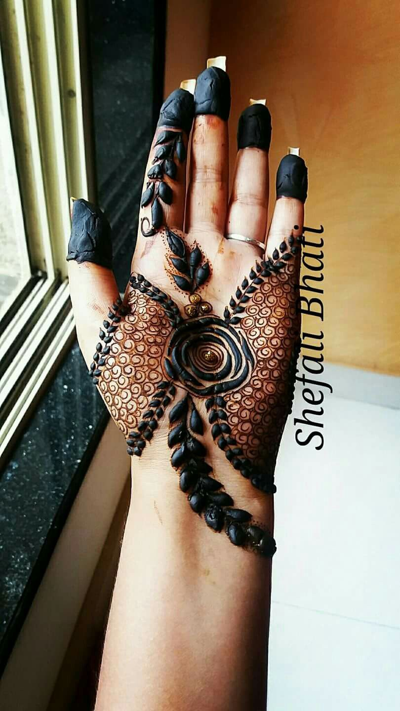 Simple And Effective Rose Mehndi Designs Mehndi Designs Baby Mehndi Design