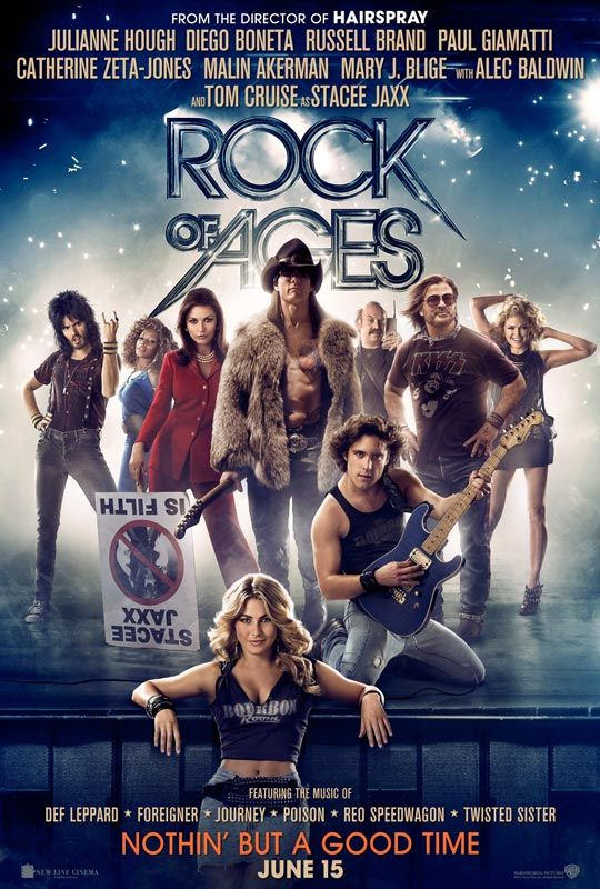 brand new rock of ages one sheet featuring the star studded cast