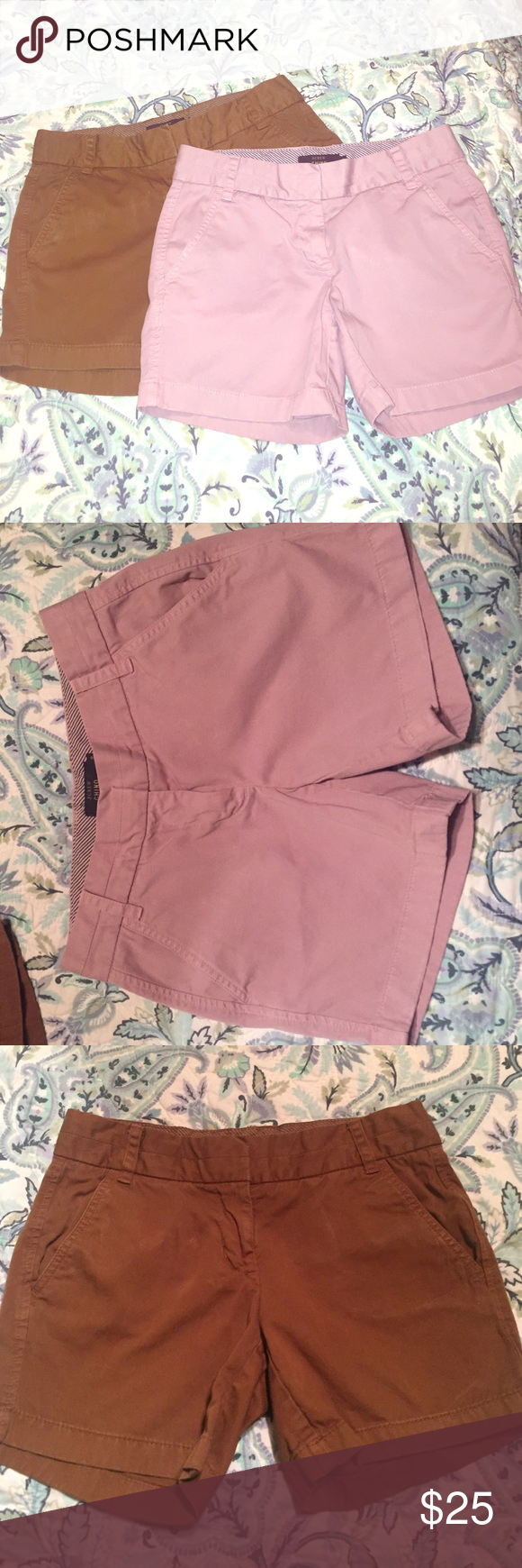 "J.Crew Chino Shorts Bundle! J. Crew 5"" chino shorts. Brand new condition. $15 for 1 pair, $25 for 2. J. Crew Shorts"