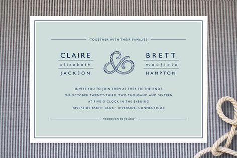 Nautical & Beach Wedding Planning, Theme Ideas, Decor & Supplies >> Nautical Rope Invitations