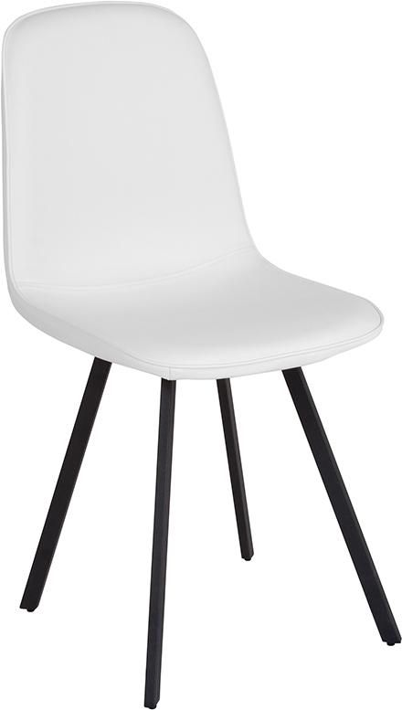 Argos Contemporary Dining Chair In White Vinyl Hg Dc108 Wh Gg