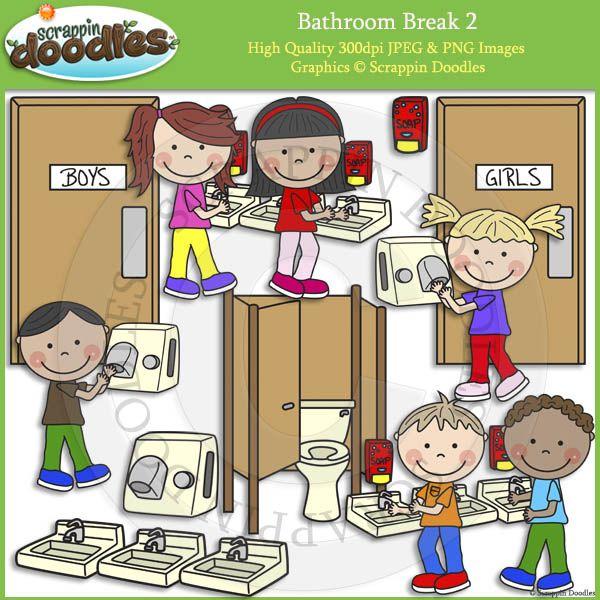 School Bathroom Break bathroom break 2 clip art | my art | pinterest | clip art and school