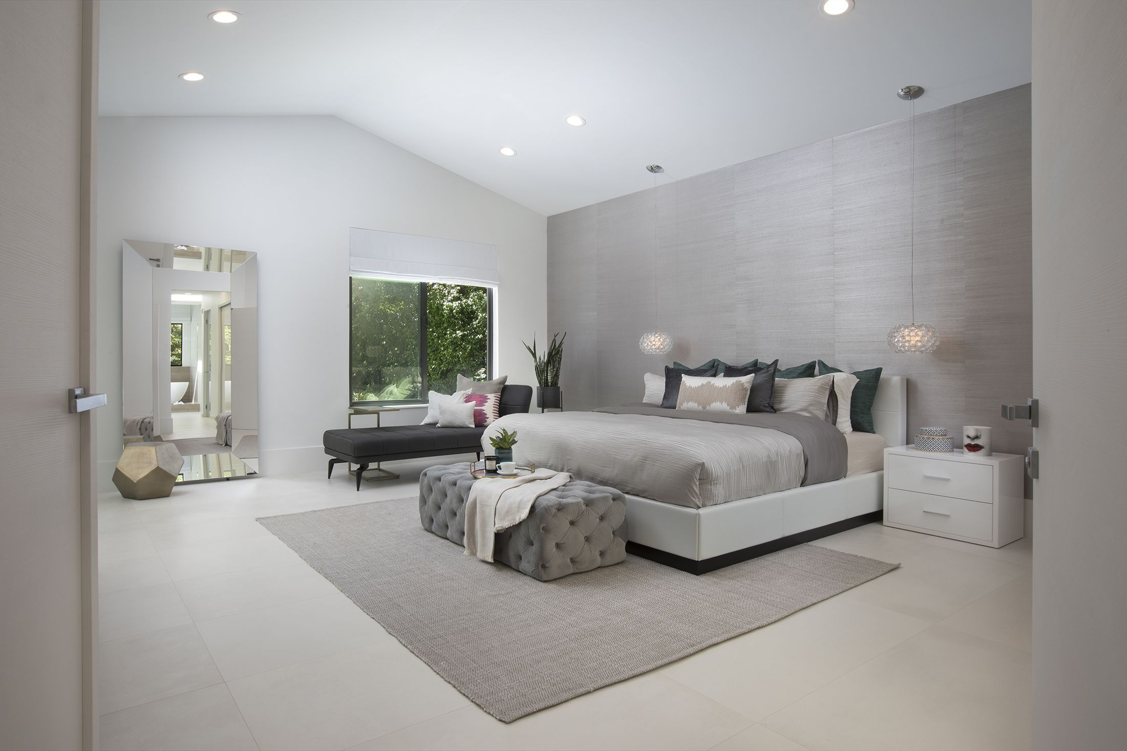 Modern Master Bedroom Ideas Residential Interior Design Project In C Gables Florida By Dkor Interiors Gem Cute Side Table Antique Br West