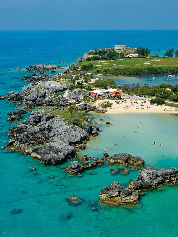 One Of Bermuda's Most Popular Beaches, Tobacco Bay Beach