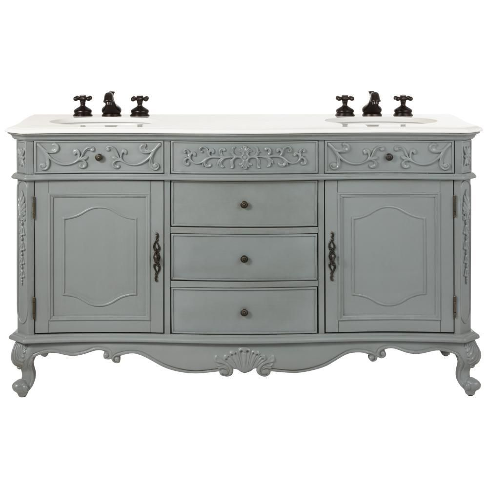 Home Decorators Collection Winslow 60 In W Double Bath