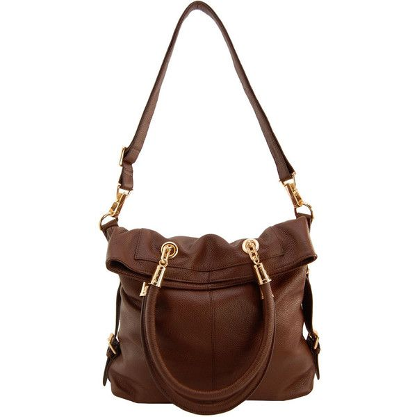 e724bdbc9577 Kristen Bell for Erica Anenberg Sutton Tote in Brown Women ( 395) ❤ liked  on Polyvore