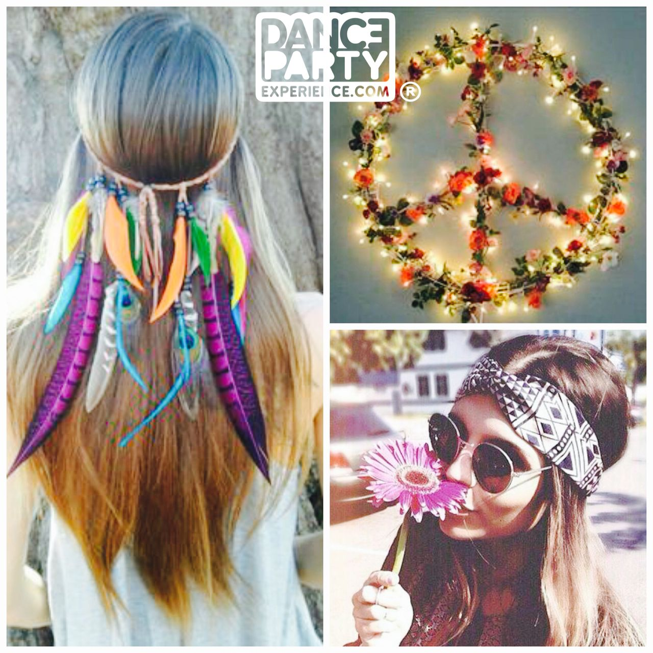 Head bands/pieces are a great way of instantly turning any outfit #BohoChic #HippieChic http://www.dancepartyexperience.com/50s-60s-70s-dance-experience/