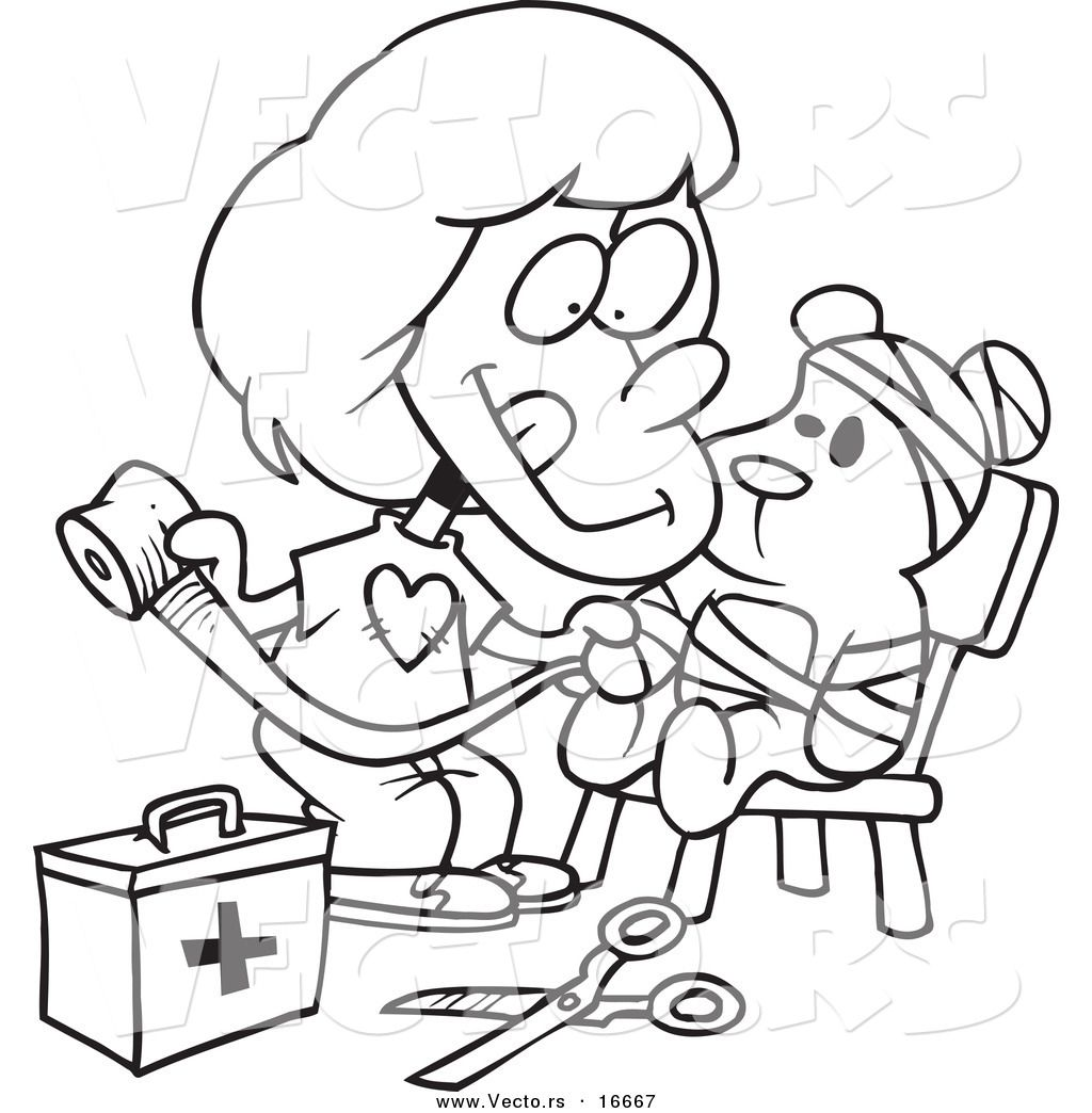 Urgent First Aid Coloring Pages For Kids Page Outline Of ...