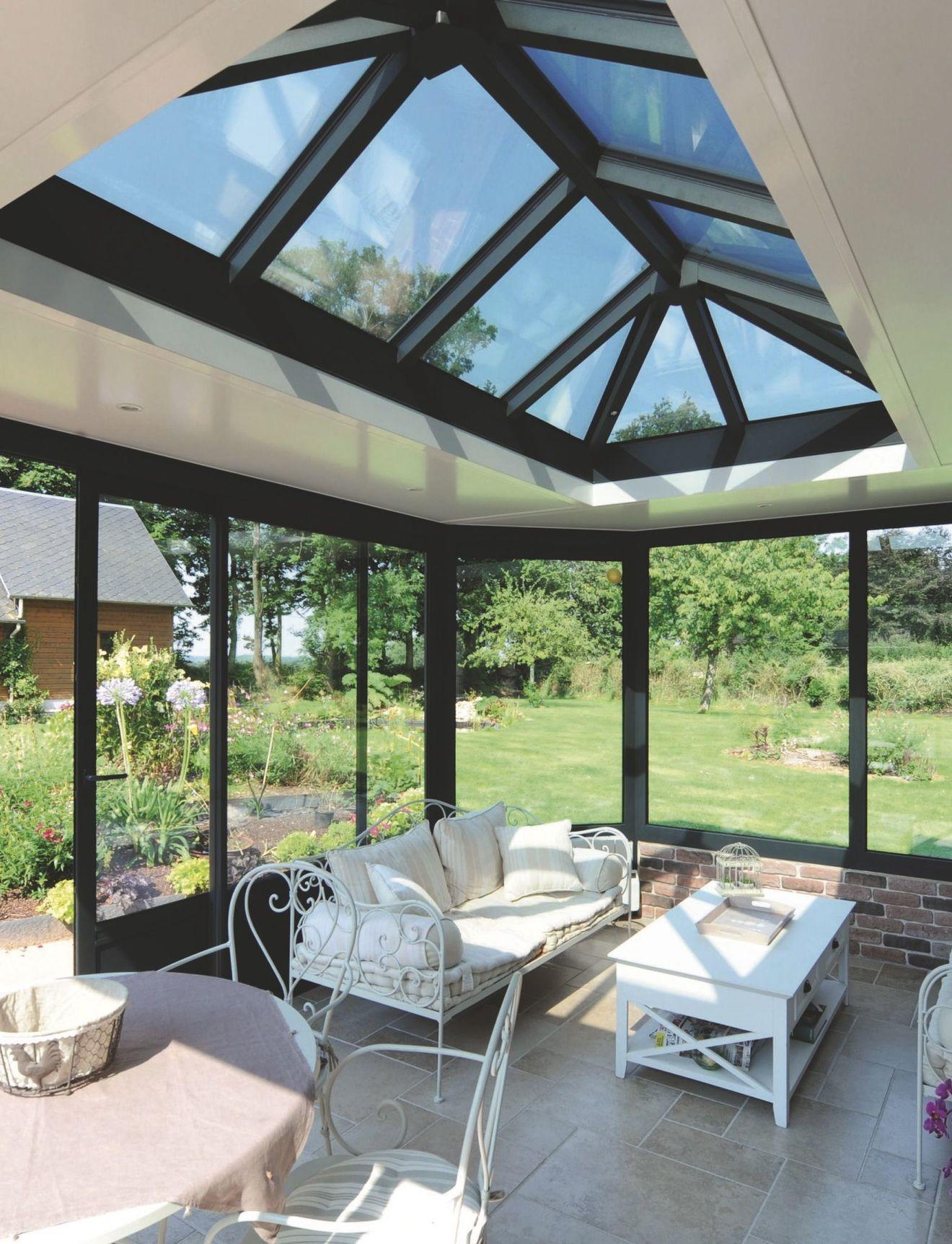 Véranda : 15 modèles d'extension de maison | Extension maison, Veranda moderne et Véranda en verre