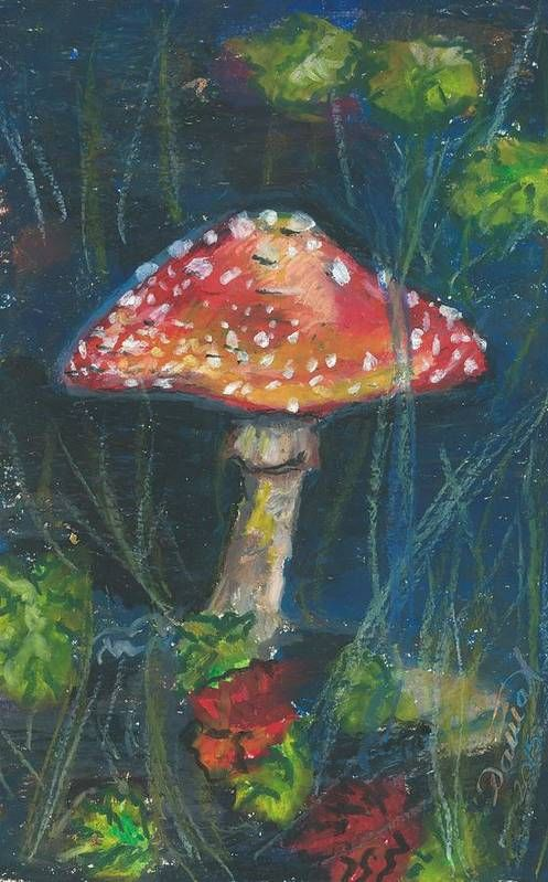 Mushroom in the Garden Art Print by Darya Tyshlek