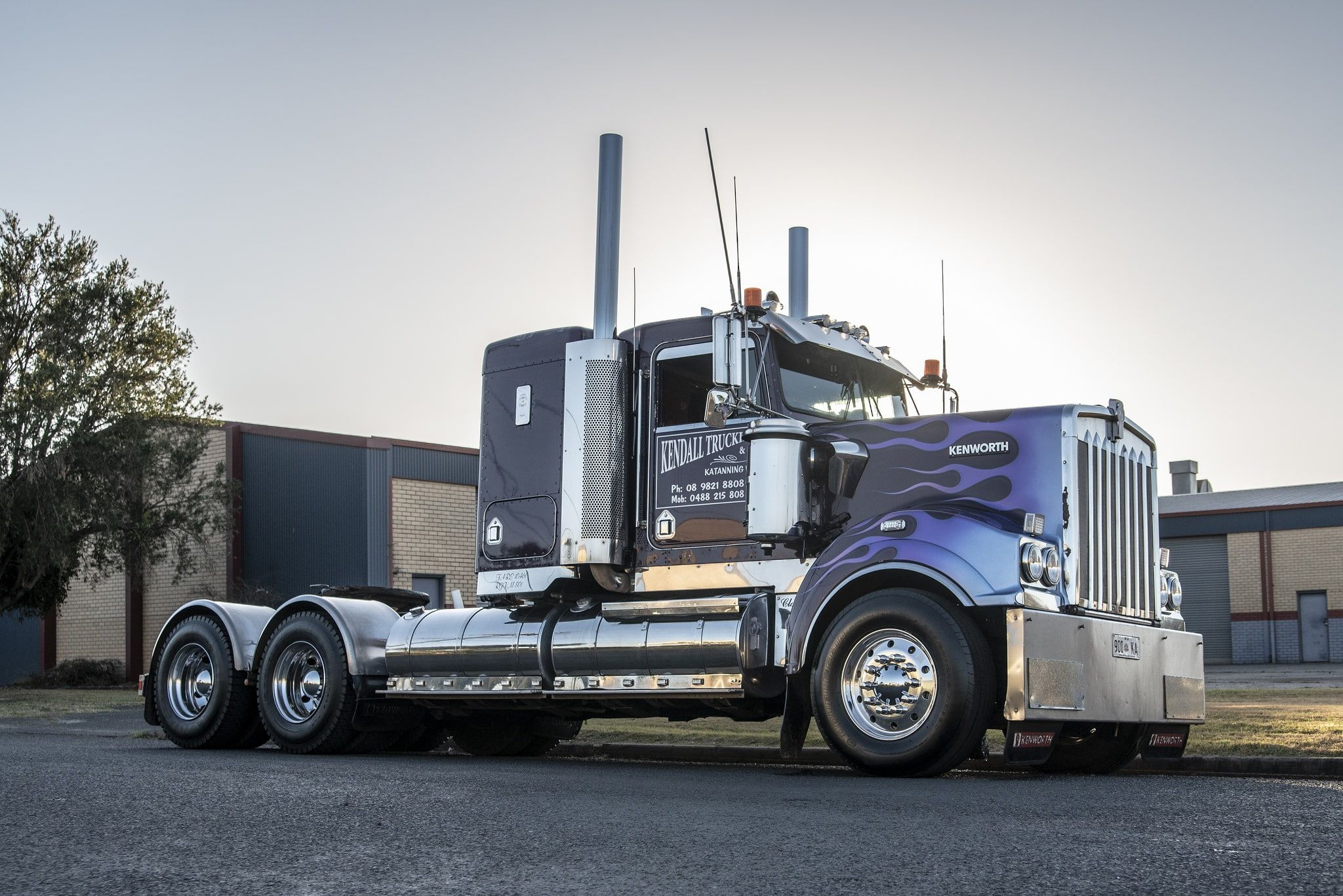 Truck Kenworth T409 1080p Wallpaper Hdwallpaper Desktop Trucks Kenworth American Truck Simulator