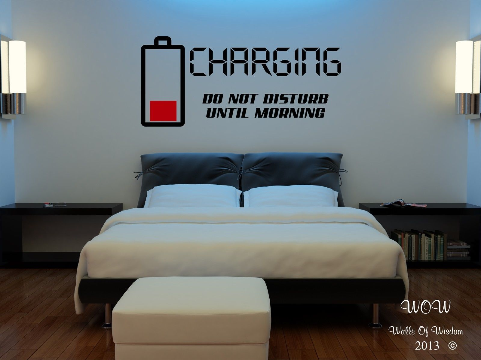 Children Teenager Adult Bedroom Wall Stickers Wall Art Charging Do