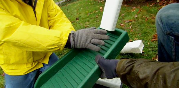 How To Install A Channel Drain Downspout Landscaping Around House Rain Gutters
