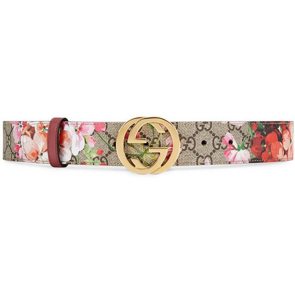 04bf188ff06 Gucci GG Blooms belt ( 285) ❤ liked on Polyvore featuring accessories