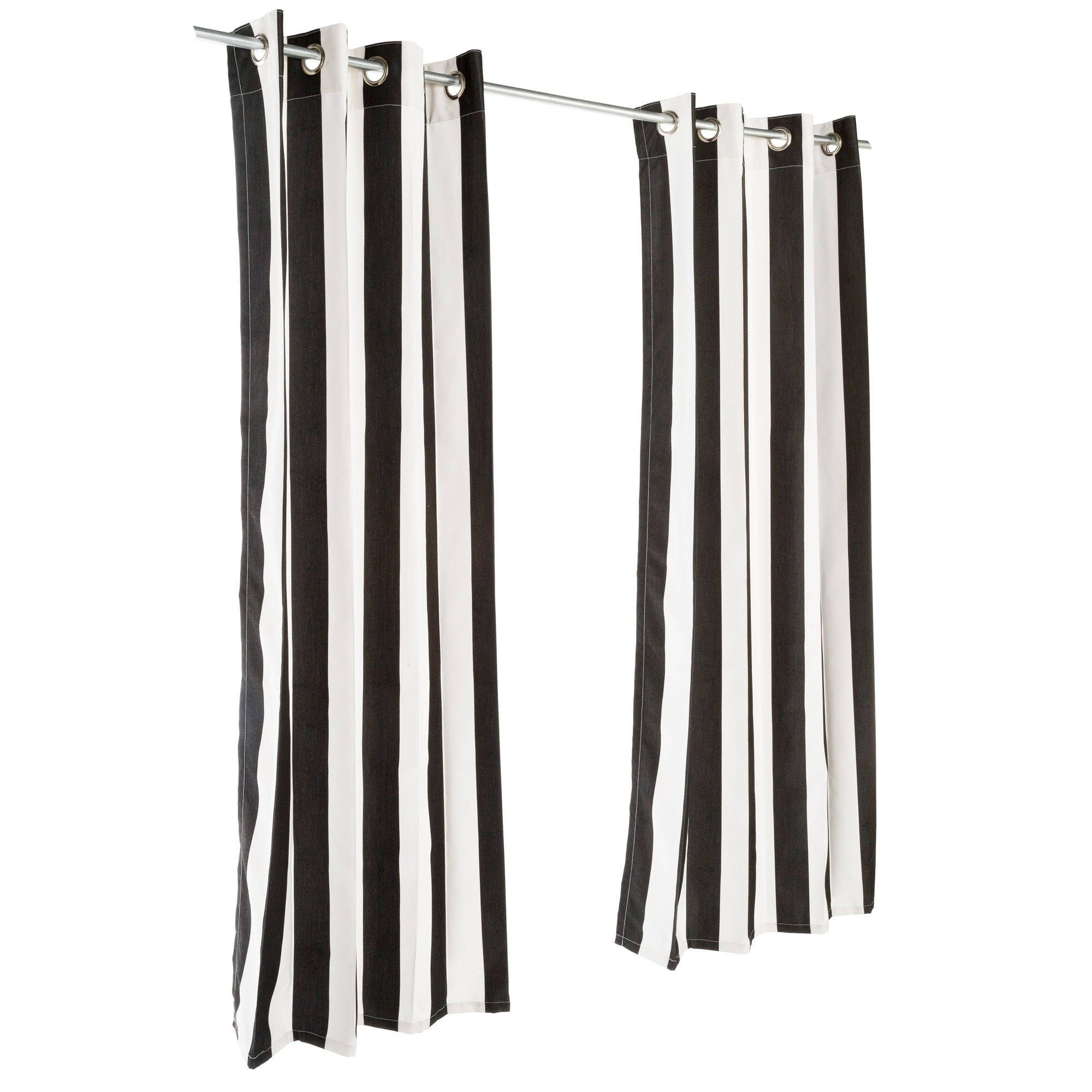 Pawleys Island Sunbrella Curtain Cabana Classic 120 Inches Multi Fabric Stripe Outdoor Curtains Sunbrella Curtains