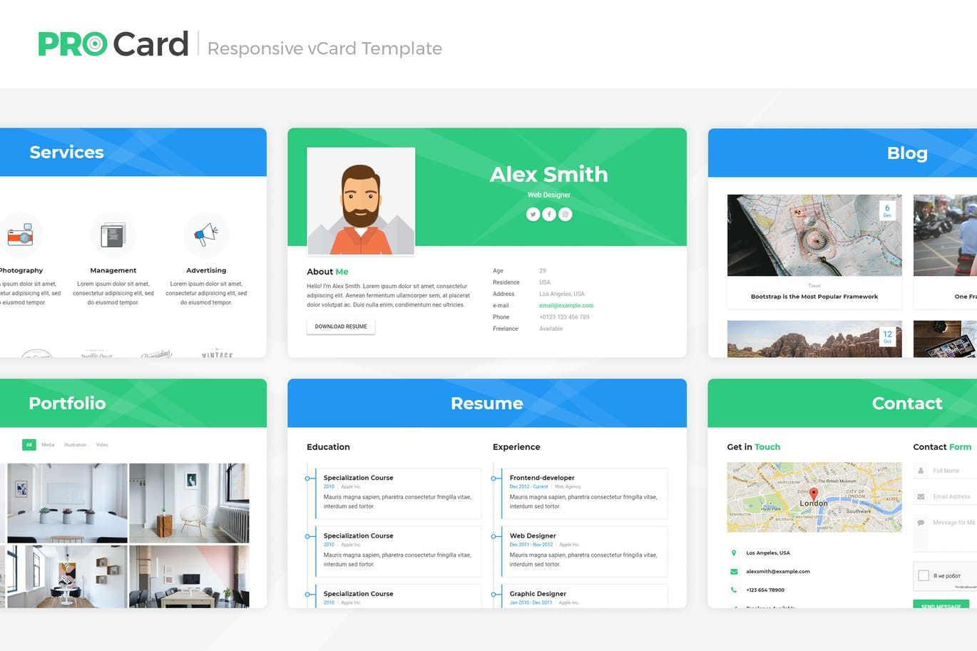 Resume/CV/vCard HTML Template by LMPixels on Templates