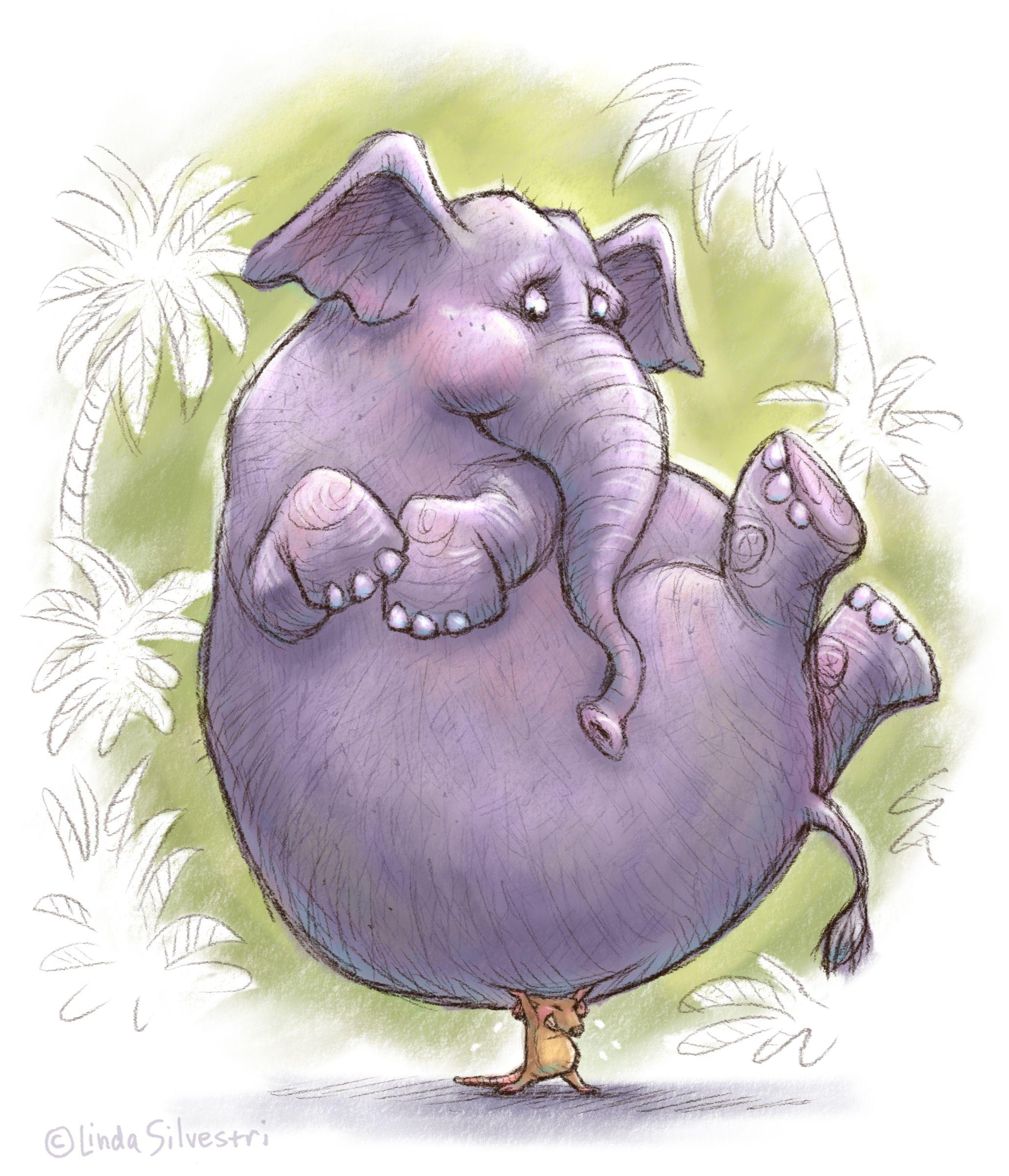 Смешная картинки, слон рисунок смешной