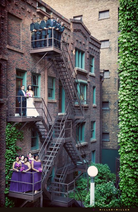 Apartment, bridal party.