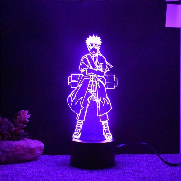 Naruto 3d Led Light This Color Changing Naruto 3d Led Light Might Be The Best Way To Show Your Love And Decorate Night Light Kids 3d Led Light Led Night Light