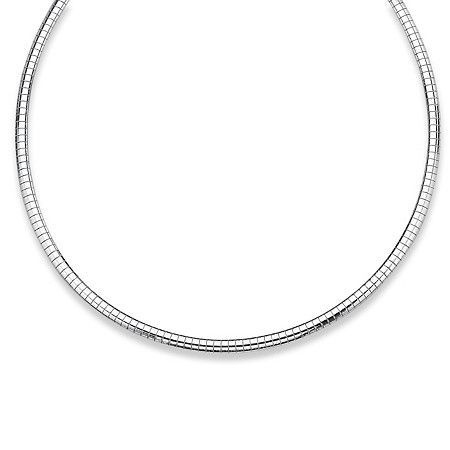 Sterling silver omega-link chain easily fits your slides. 4 mm width. 16 length.Price - $67-BldyVMys