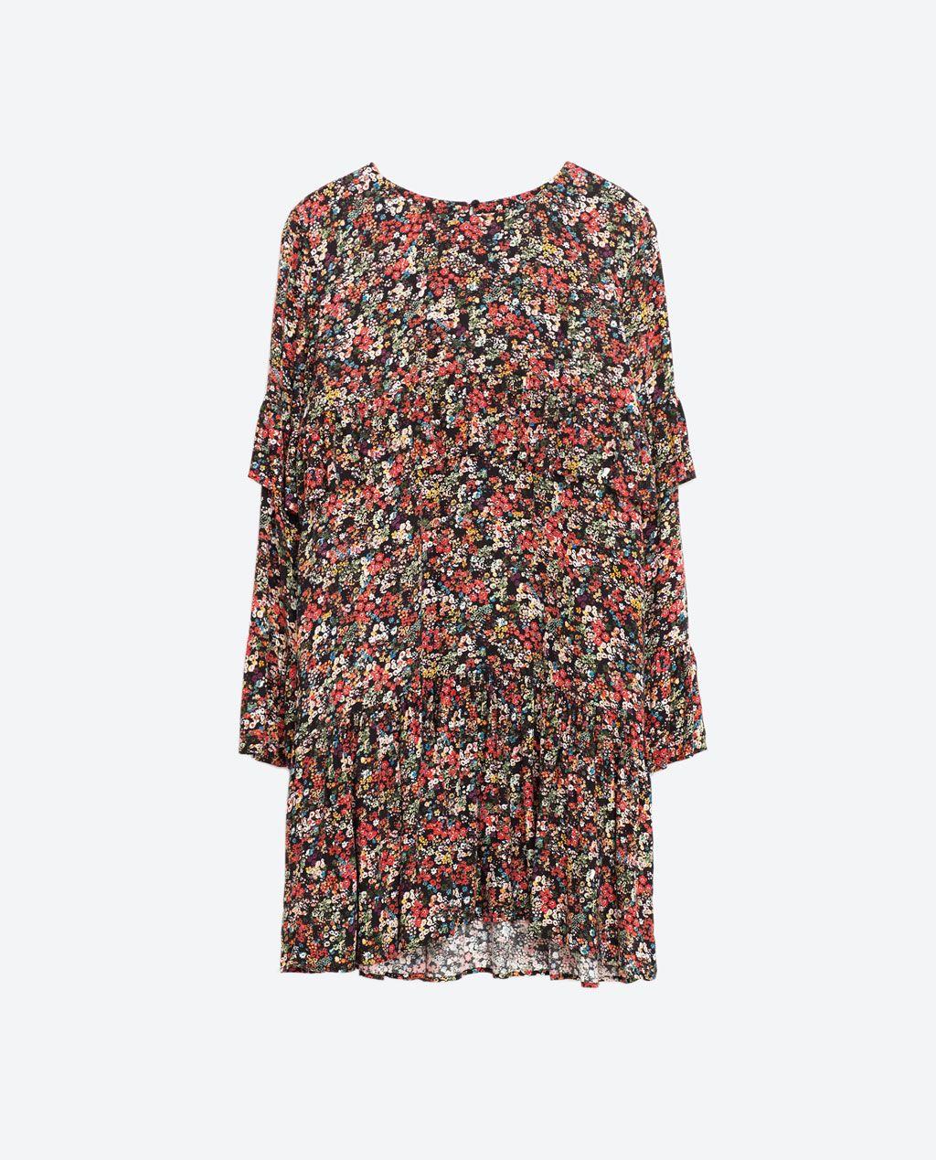 Zara Dan 6 Firfirli Desenli Elbise Resmi Elbise Zara Kadin