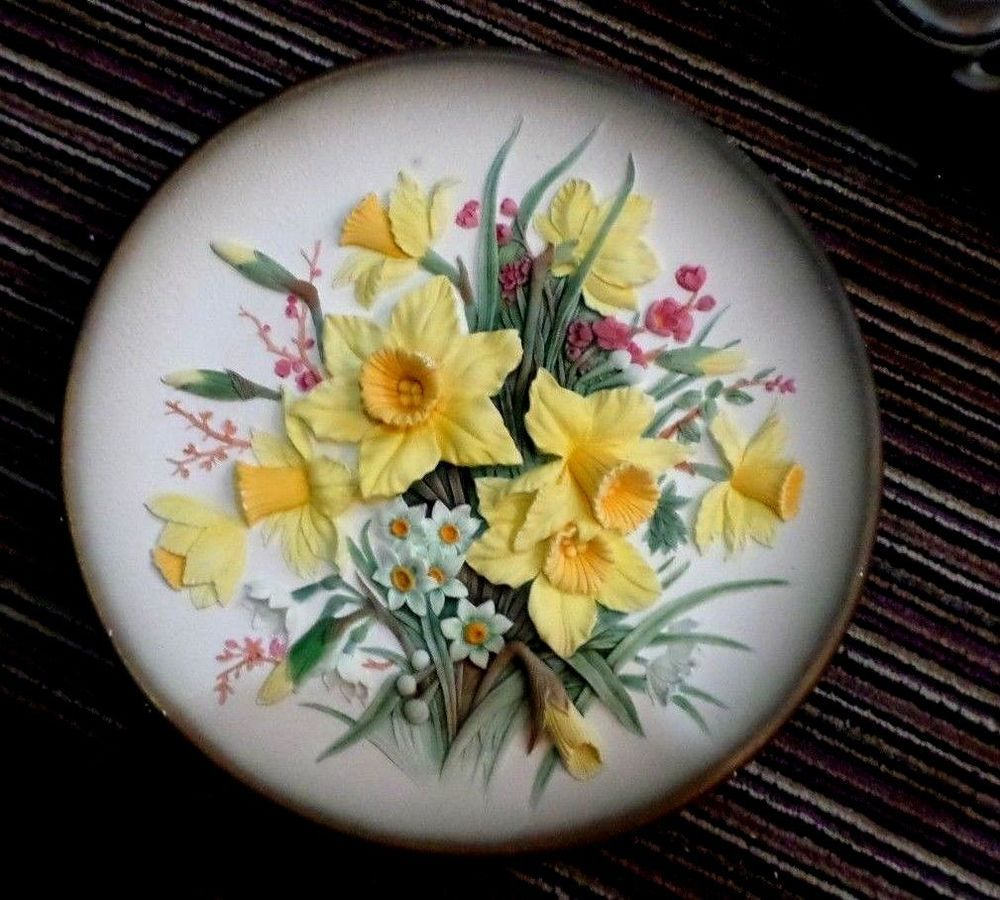 Rare 30\'s Bossons Congleton England Wall plate 30cm hand painted ...