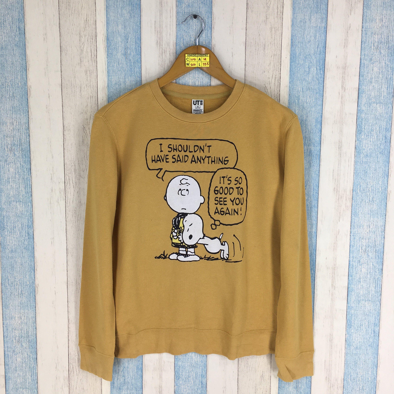 Vintage Snoopy Peanuts Pull Over Sweatshirt Cartoon Funny Sweater Size M