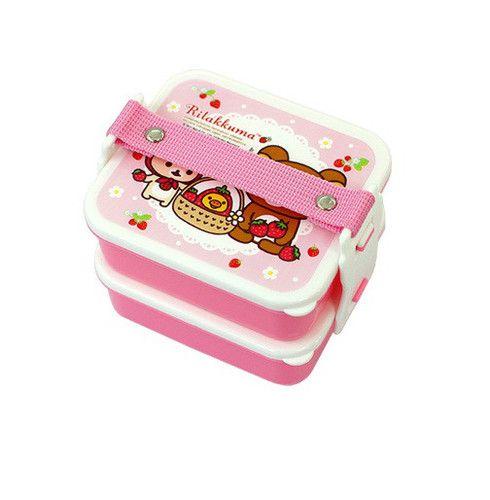 Genuine Rilakkuma 2 Layer Lunch Box Bento San x Container Picnic Box Pink | eBay