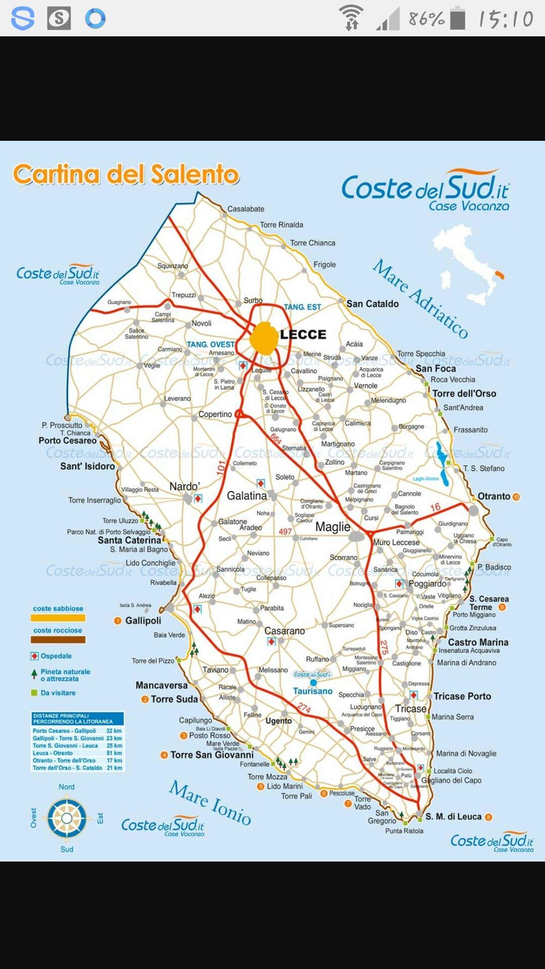 Cartina Puglia Salento.Cartina Del Salento Puglia Salento Italy Travel