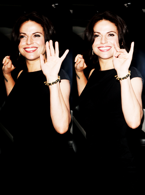 Lana Parrilla. You adorable little shit. ilysfm