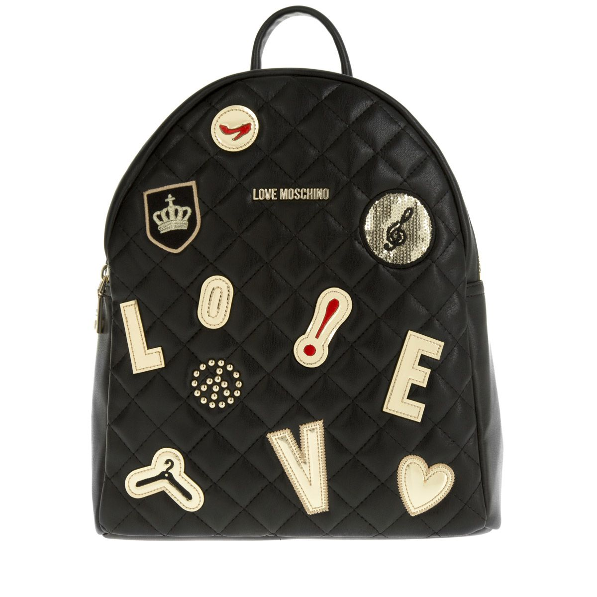 Love Moschino STUDS BACKPACK - Tagesrucksack - nero