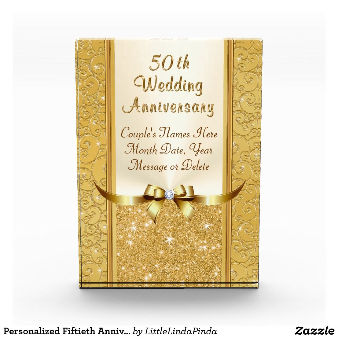 Personalized Fiftieth Anniversary Gifts Stunning Acrylic Award Zazzle Com 50th Anniversary Gifts Fiftieth Anniversary Gifts Anniversary Gifts