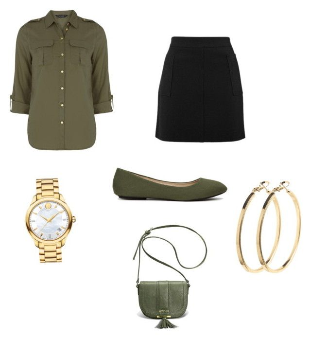 """""""Untitled #50"""" by scollias on Polyvore featuring Dorothy Perkins, Topshop, Movado, Pieces and Avenue"""
