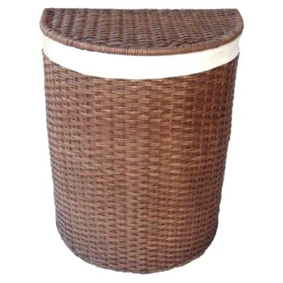 Target home rattan hamper with liner pretty for foot of bed 50 storage and closet - Wicker hamper with liner ...