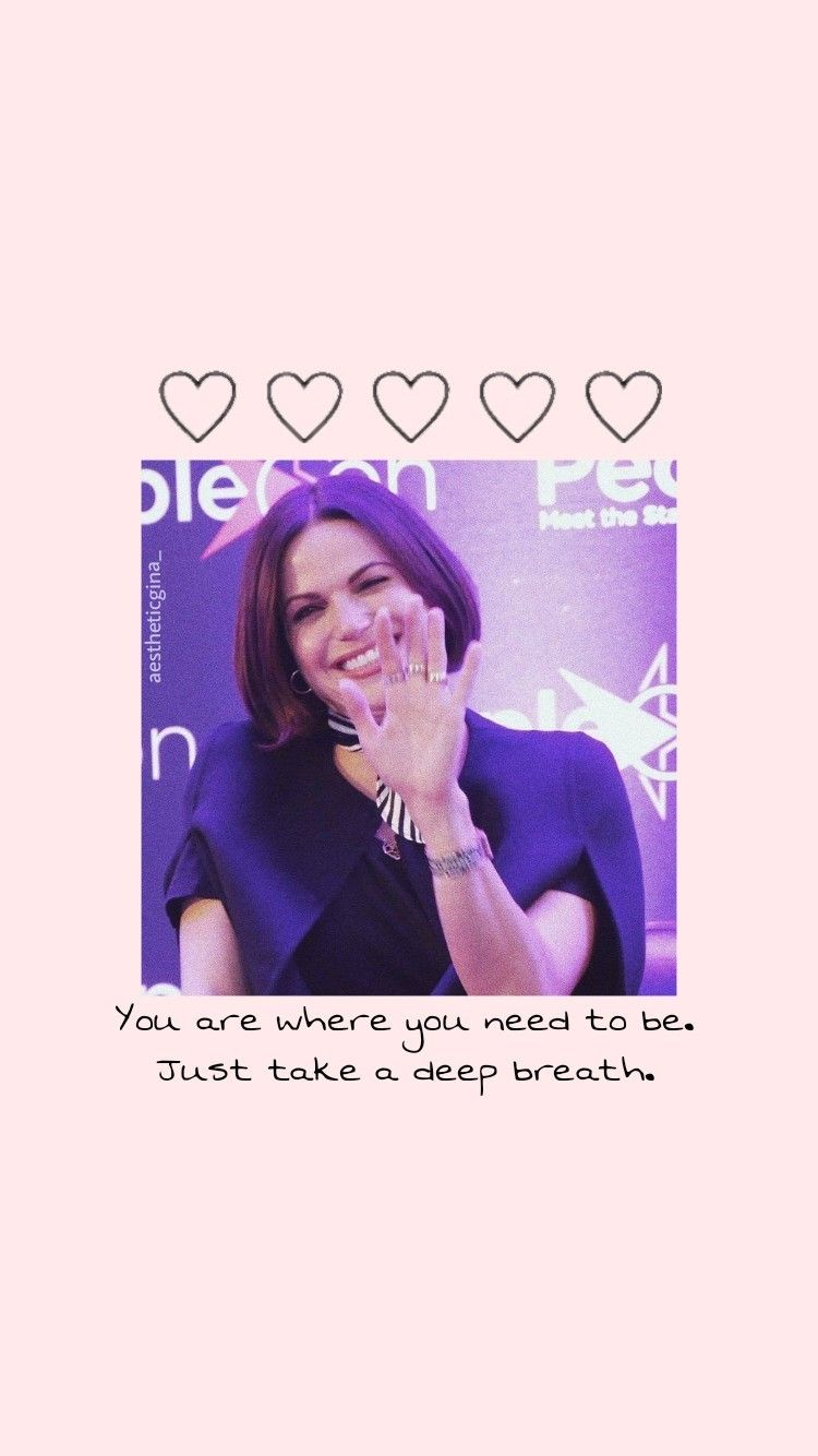 Lana Parrilla Wallpaper You Are Where You Need To Be Just