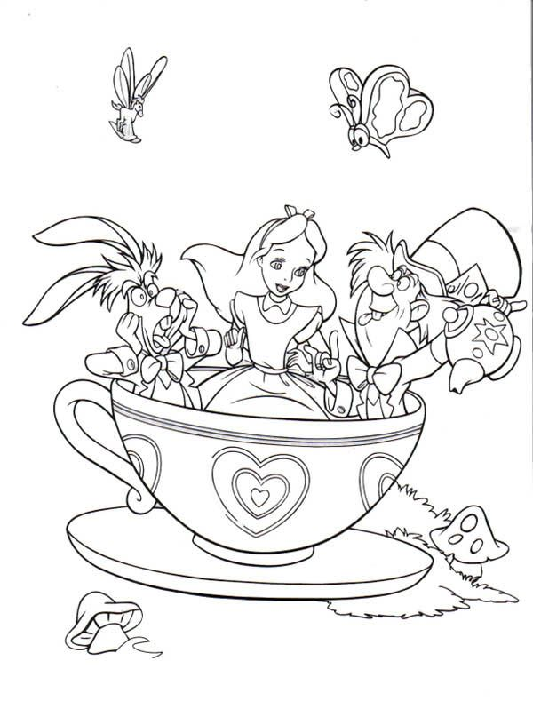 alice in wonderland coloring page # 0