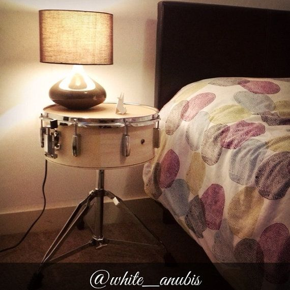 Reclaimed Snare Drum Table by WhiteAnubisHandmade on Etsy, £95.00